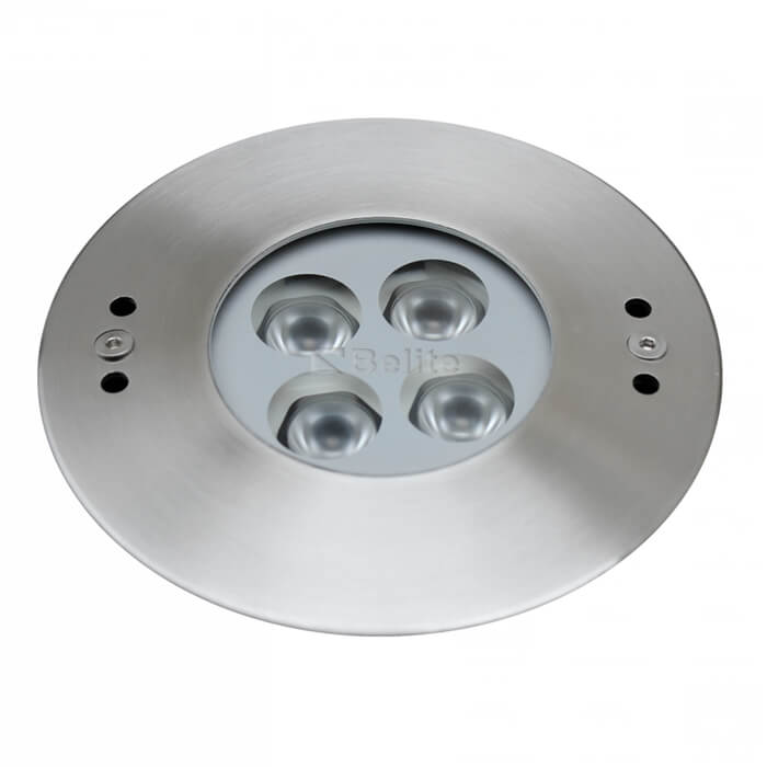 BELITE IP68 8w recessed underwater light 3000K DC24V SS316