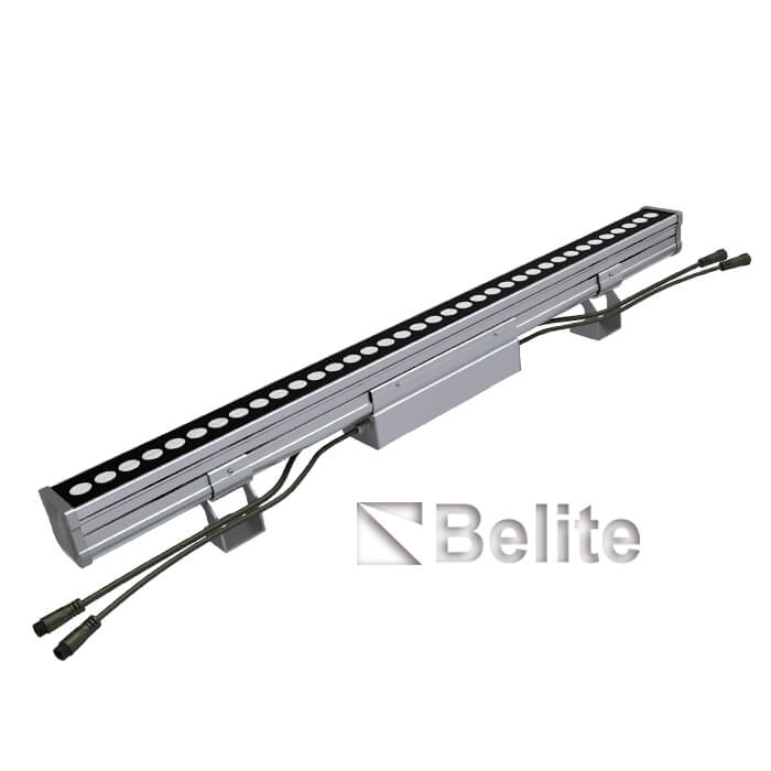 Outdoor waterproof building facade lighting led wall washer linear light